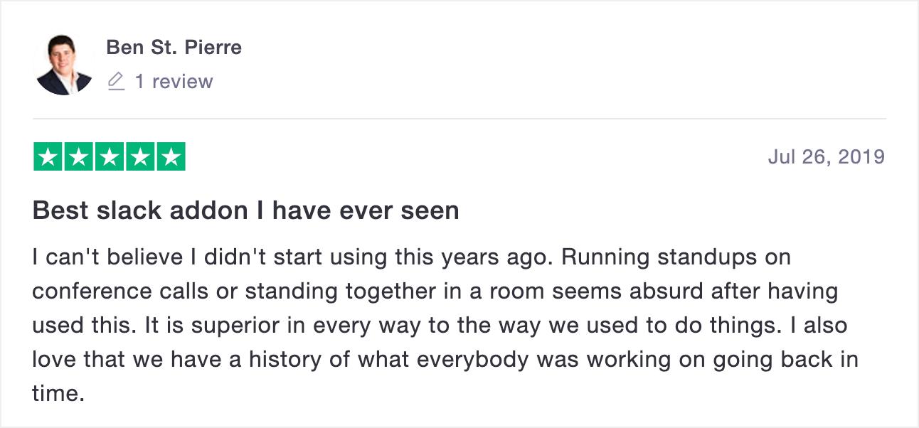 Geekbot trustpilot review