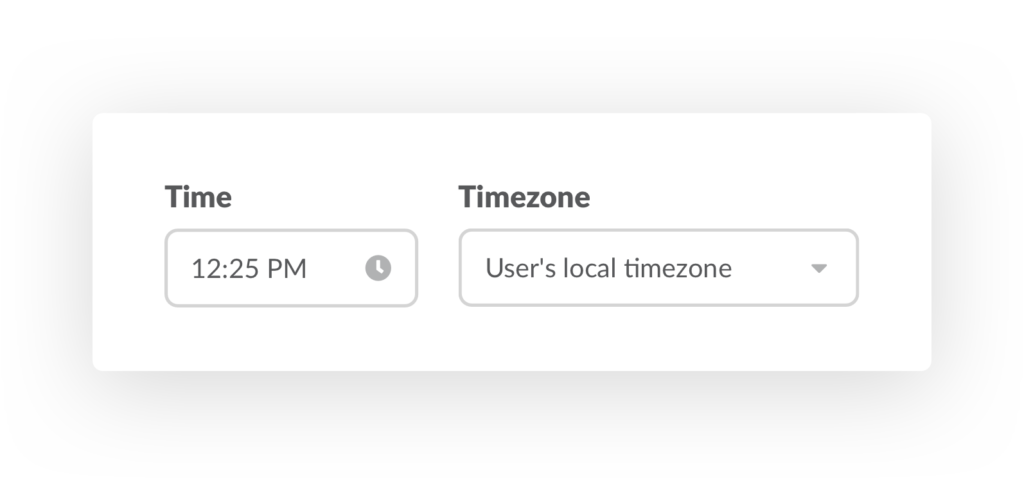 Manage standup Time Timezone