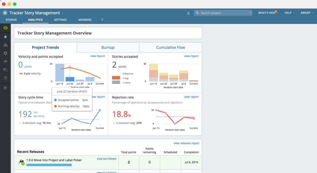 Scrum tools: Pivotal Tracker