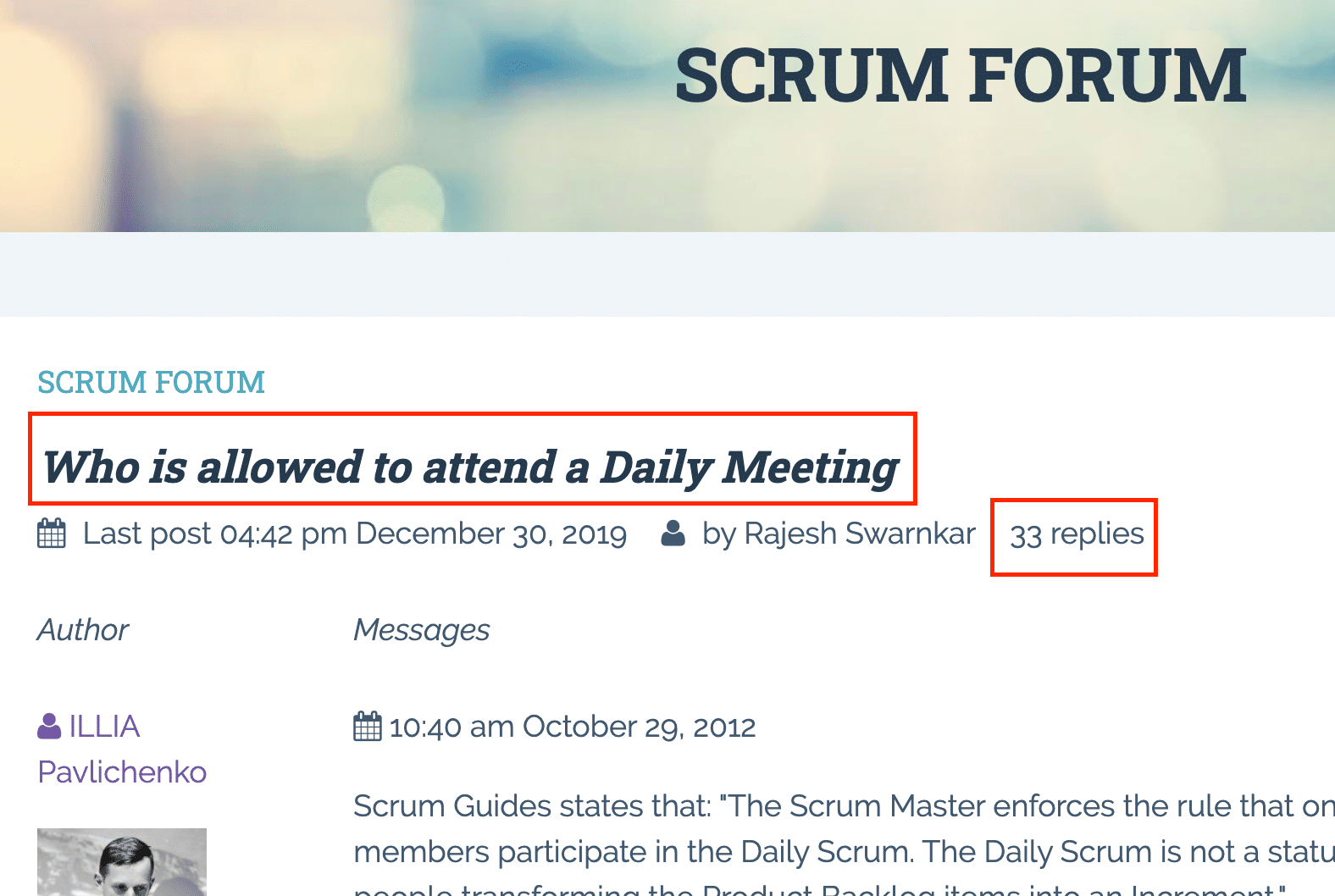 Scrum Forum: Who is allowed to attend a daily meeting?