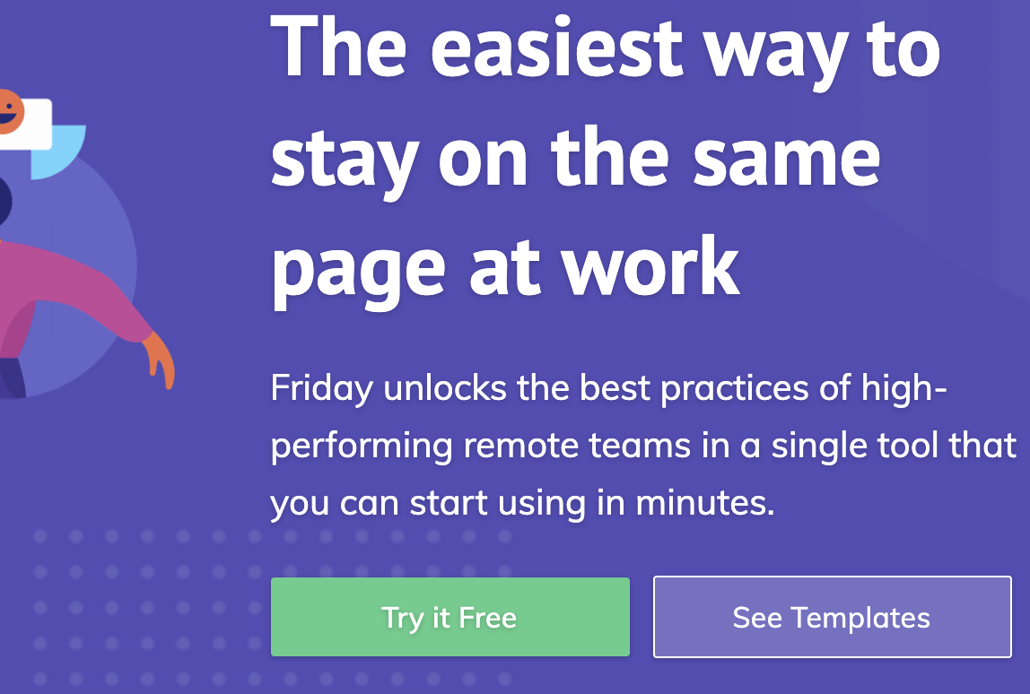 Friday homepage: The easiest way to stay on the same page at work.