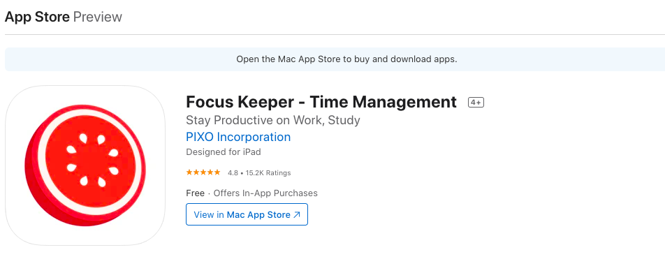 Focus Keeper: Time Management