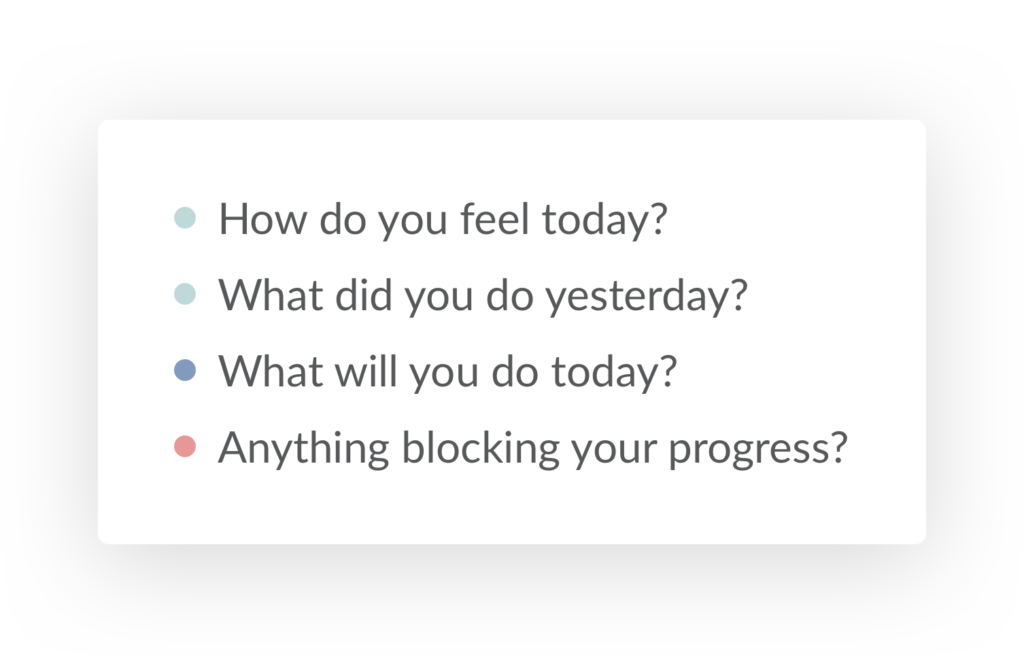 """Default """"Daily Standup"""" Preset Questions"""