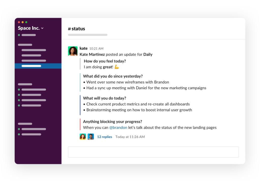 threaded conversations in Slack