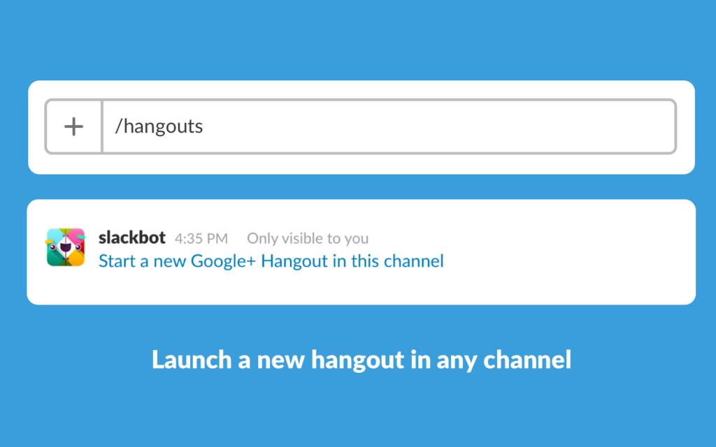 google hangouts in slack