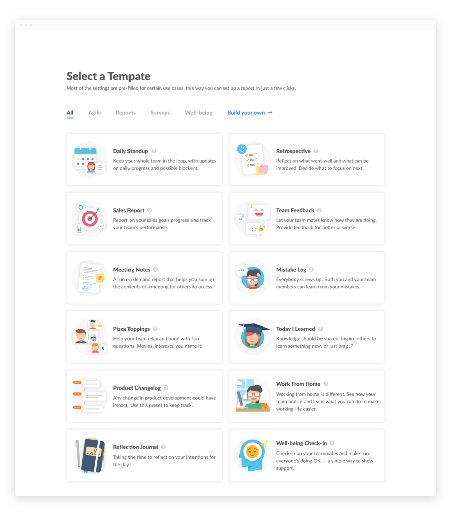 Templates Geekbot page