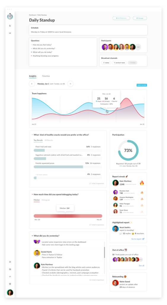Report View page with Insights