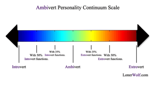 ambivert personality continuum scale