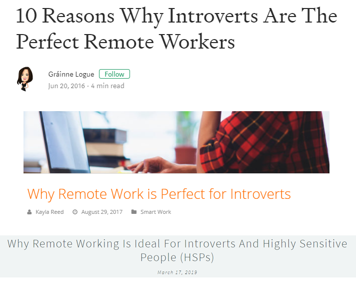 introverts are perfect remote workers