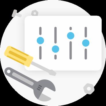 Custom report illustration